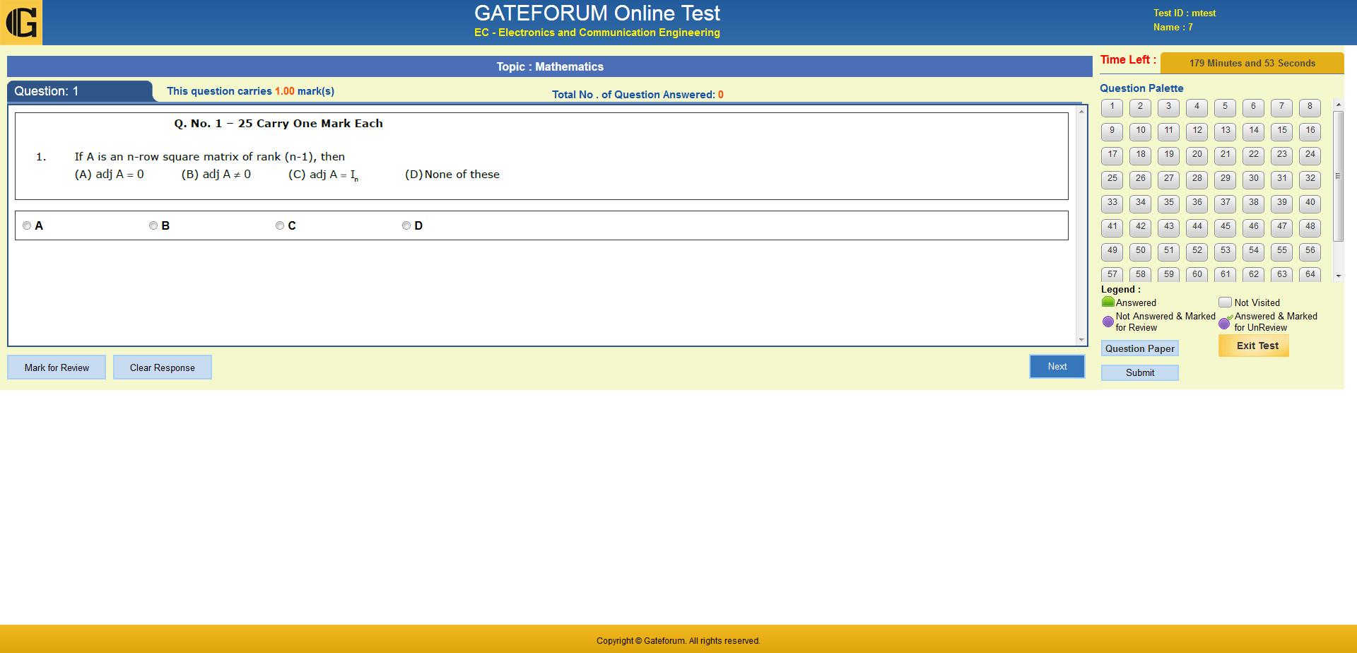 Online TarGATE Plus | Gate Test Series| Gate Mock Test| Gate ...